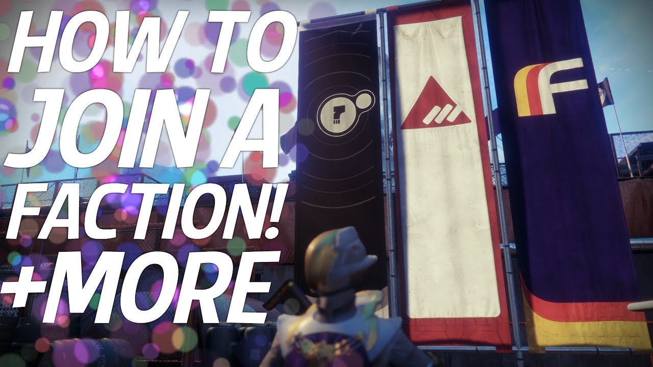 how to join a faction destiny 2