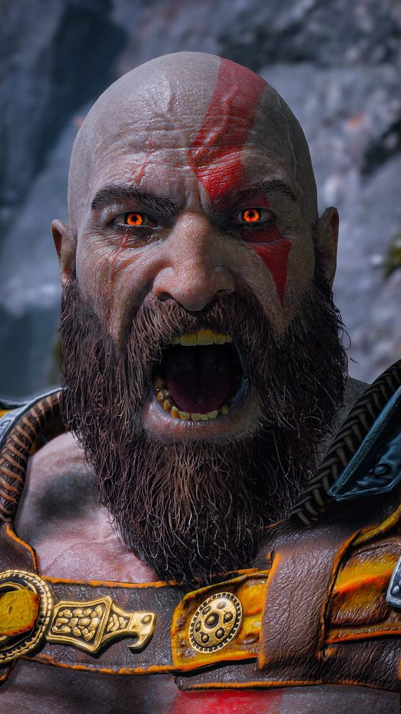 god of war kratos beard
