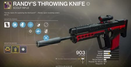 Randys Throwing Knife Scout Rifle