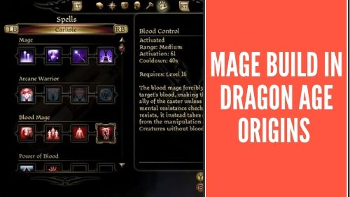 mage build in DAO